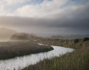 Rivier door landschap